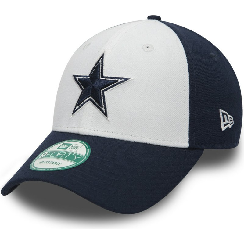 gorra-curva-blanca-y-azul-marino-ajustable-9forty-the-league-de-dallas-cowboys-nfl-de-new-era