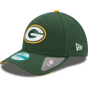 Gorra curva verde ajustable 9FORTY The League de Green Bay Packers NFL de New Era