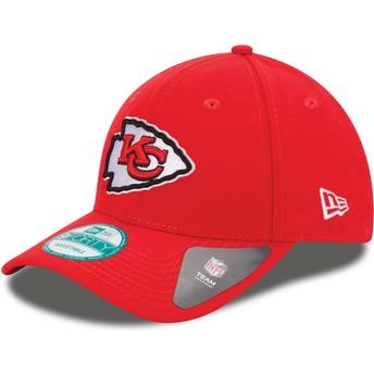 Gorra curva roja ajustable 9FORTY The League de Kansas City Chiefs NFL de New Era