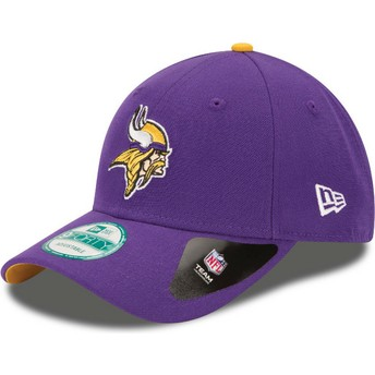 Gorra curva violeta ajustable 9FORTY The League de Minnesota Vikings NFL de New Era