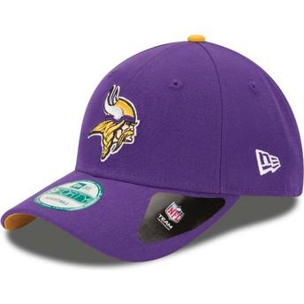 Gorra curva violeta ajustable 9FORTY The League de Minnesota Vikings NFL de New Era