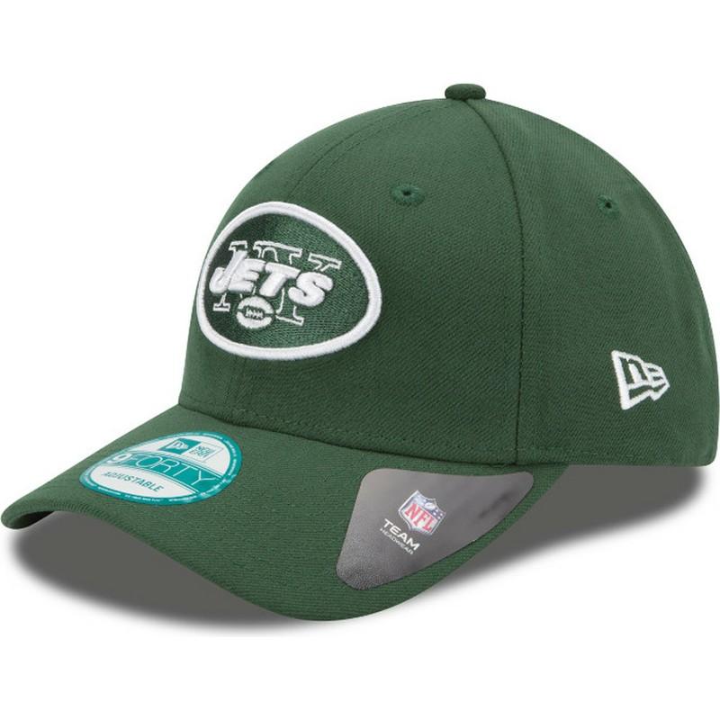 c1c96bc81d378 Gorra curva verde ajustable 9FORTY The League de New York Jets NFL ...