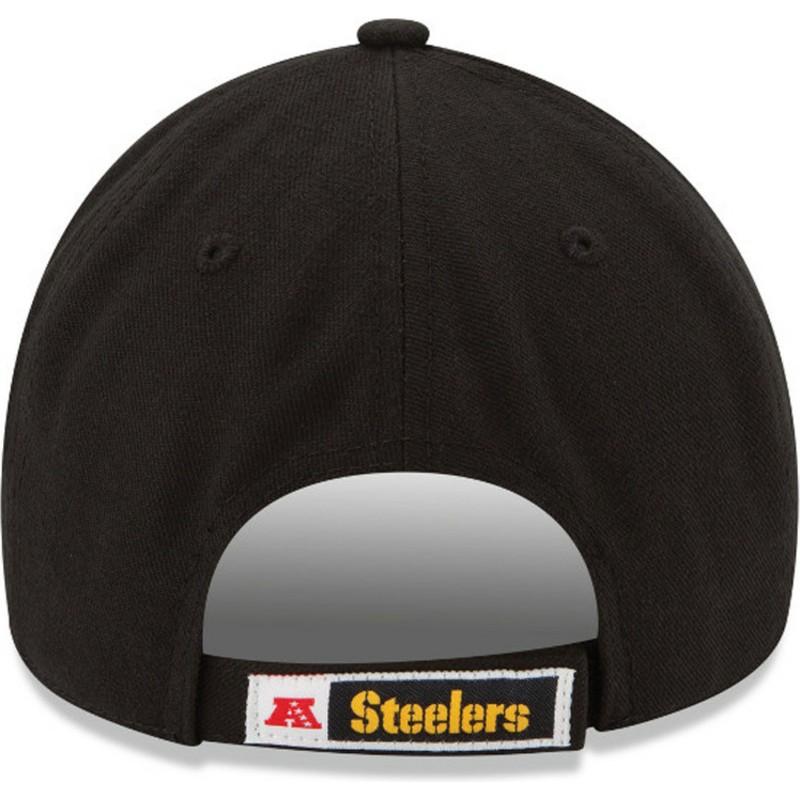 514fe8ff38ee5 Gorra curva negra ajustable 9FORTY The League de Pittsburgh Steelers ...