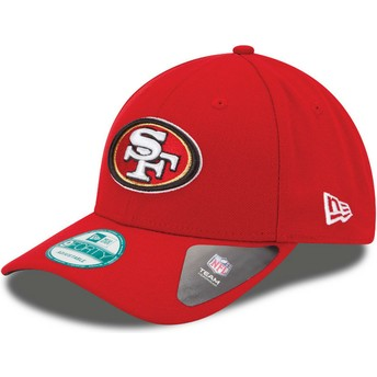 Gorra curva roja ajustable 9FORTY The League de San Francisco 49ers NFL de New Era