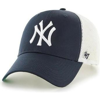 Gorra trucker azul marino para niño de New York Yankees MLB MVP Branson de 47 Brand