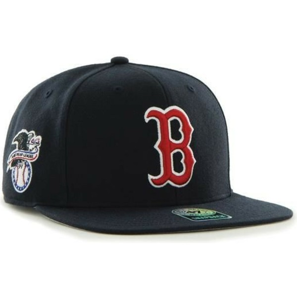 gorra-plana-azul-marino-snapback-de-boston-red-sox-mlb-captain-sure-shot-de-47-brand