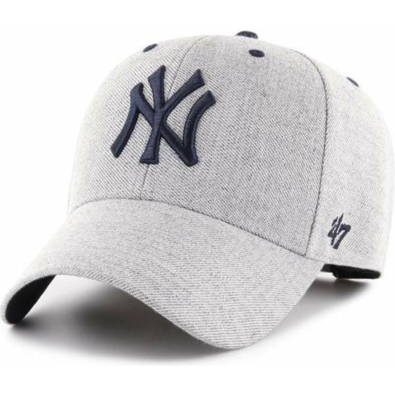 2bac9f8501d29 Gorra curva gris ajustable de New York Yankees MLB MVP Storm Cloud ...