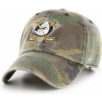 Gorra curva camuflaje ajustable de Anaheim Ducks NHL Clean Up de 47 Brand