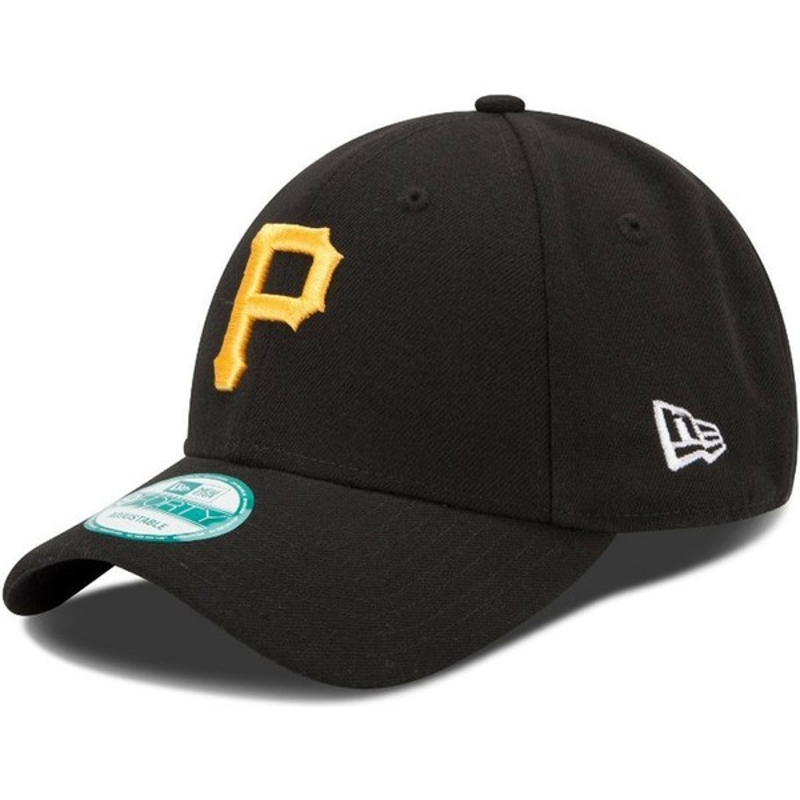 Gorra curva negra ajustable 9FORTY The League de Pittsburgh Pirates ... b56967253e8