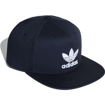Gorra plana azul marino snapback Trefoil de Adidas