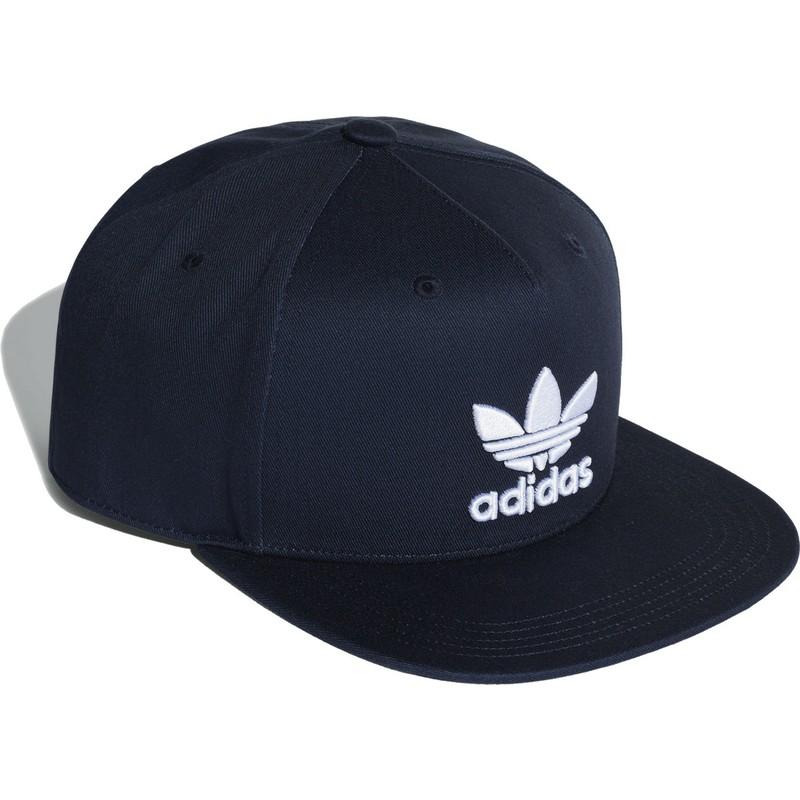 Gorra plana azul marino snapback Trefoil de Adidas  comprar online ... 0f6002c7253