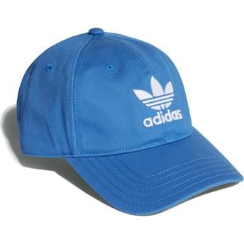 Gorra curva azul cieno ajustable Trefoil Classic de Adidas