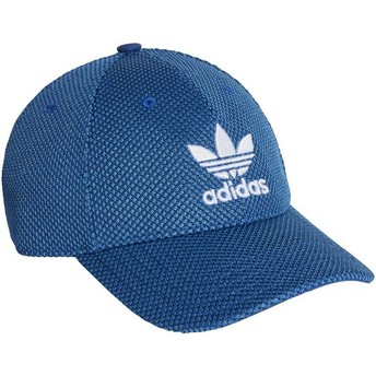 Gorra curva azul con logo blanco Trefoil Primeknit de Adidas