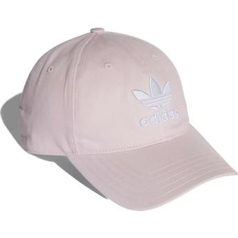 Gorra curva rosa claro ajustable Trefoil Classic de Adidas