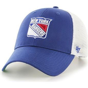Gorra trucker azul de New York Rangers NHL MVP Branson de 47 Brand
