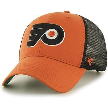 Gorra trucker naranja de Philadelphia Flyers NHL MVP Branson de 47 Brand