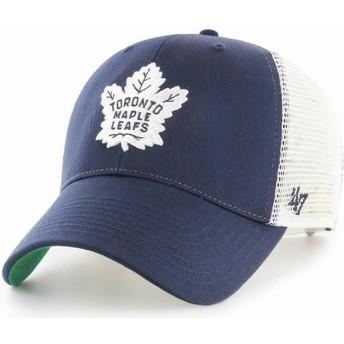 Gorra trucker azul marino de Toronto Maple Leafs NHL MVP Branson de 47 Brand