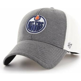 Gorra curva gris de Edmonton Oilers NHL MVP Haskell de 47 Brand