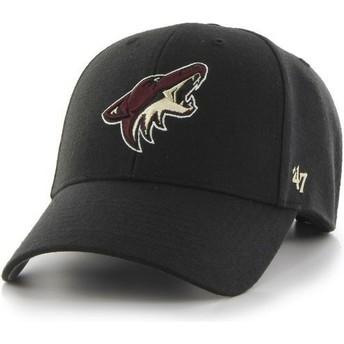 Gorra curva negra de Arizona Coyotes NHL MVP de 47 Brand