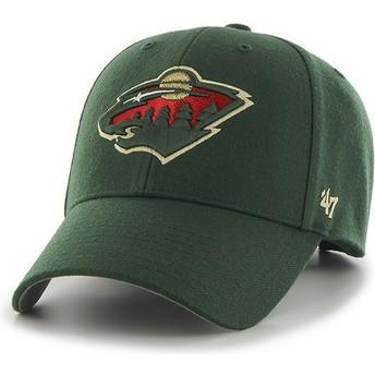 Gorra curva verde de Minnesota Wild NHL MVP de 47 Brand
