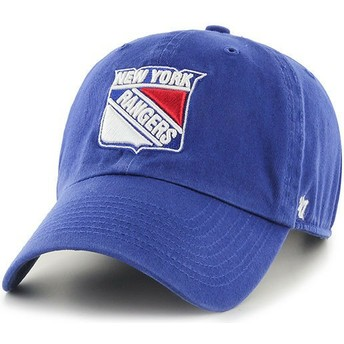 Gorra curva azul de New York Rangers NHL Clean Up de 47 Brand