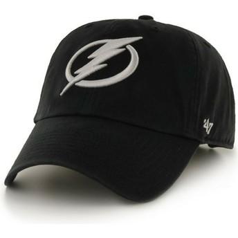 Gorra curva negra de Columbus Blue Jackets NHL Clean Up de 47 Brand