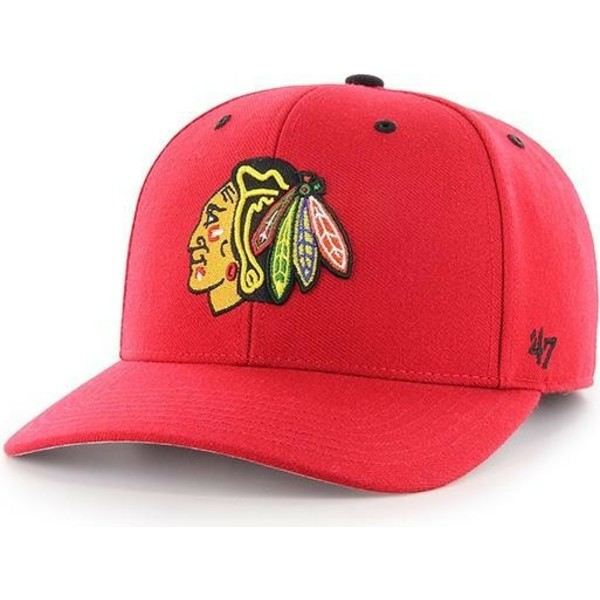 Gorra curva roja de Chicago Blackhawks NHL MVP DP Audible de 47 ... 70e49d22a77