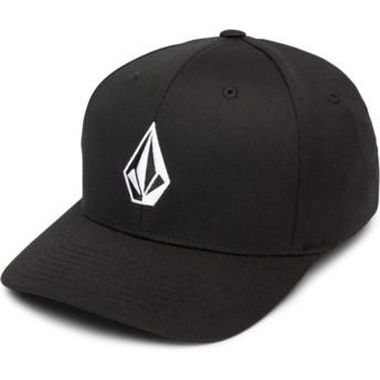 Gorra curva negra ajustada Full Stone Xfit Black de Volcom
