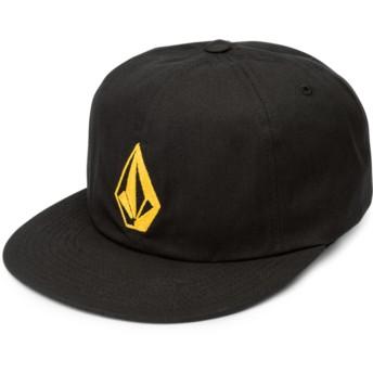 Gorra plana negra ajustable con logo dorado Stone Battery Golden Haze de Volcom
