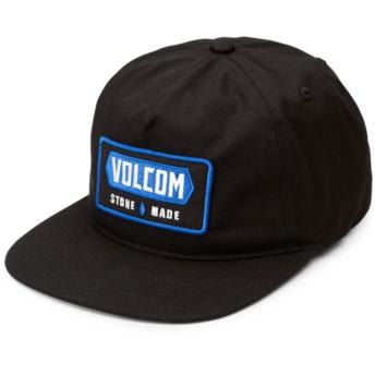 Gorra plana negra snapback Shop Black de Volcom