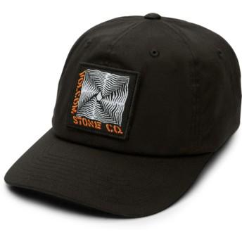 Gorra curva negra ajustada Stone Radiator Xfit Black de Volcom