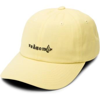 Gorra curva amarilla ajustable Stonographer Acid Yellow de Volcom
