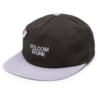 Gorra plana negra ajustable con visera gris Noa Noise Black de Volcom