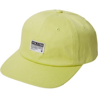 Gorra curva amarilla ajustable Case Shadow Lime de Volcom