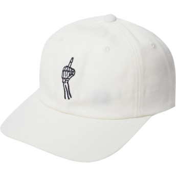 Gorra curva blanca ajustable Finger Dirty White de Volcom