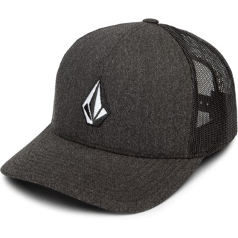 Gorra trucker negra Full Stone Cheese Charcoal Heather de Volcom
