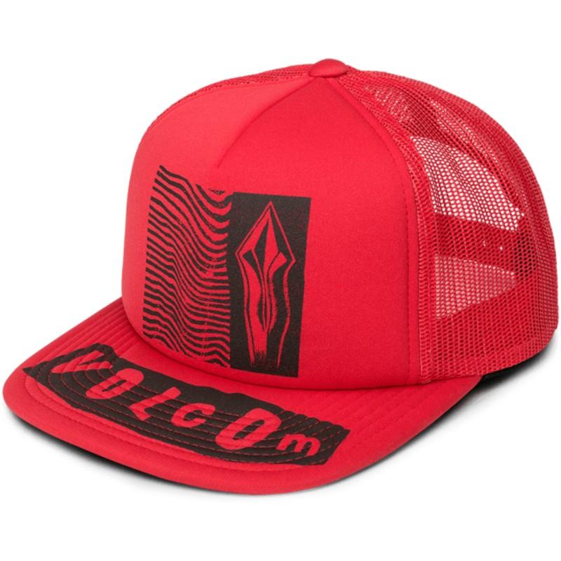 61af12f32f3fa Gorra trucker roja Stonar Waves Rad Red de Volcom  comprar online en ...