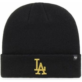Gorro negro con logo oro de Los Angeles Dodgers MLB Cuff Knit Metallic de 47 Brand