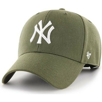 Gorra curva marrón de New York Yankees MLB MVP de 47 Brand
