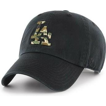 Gorra curva negra con logo camuflaje de Los Angeles Dodgers MLB Clean Up Camfill de 47 Brand