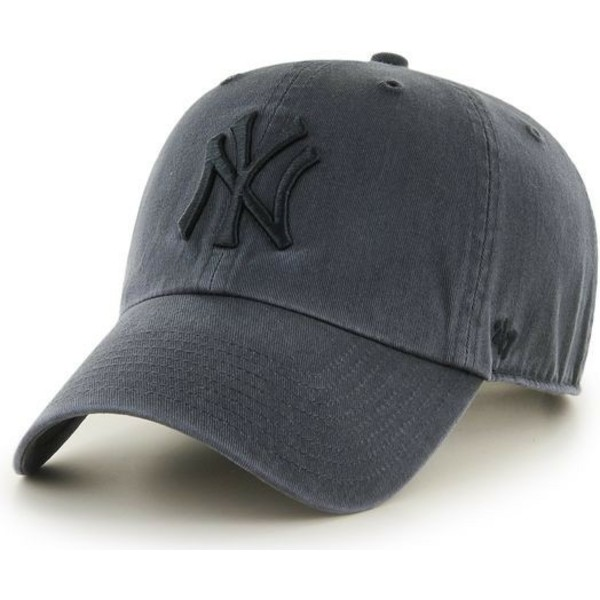 Gorra curva negra con logo negro de New York Yankees MLB Clean Up de ... 506385d3ede
