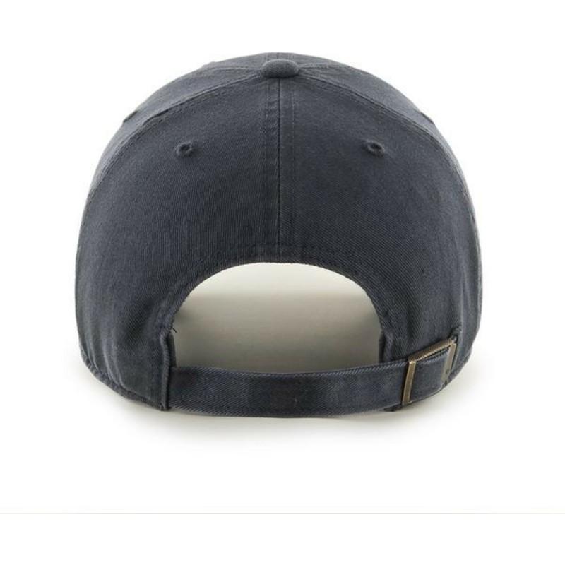 Gorra curva negra con logo negro de New York Yankees MLB Clean Up de ... b49e623eadf