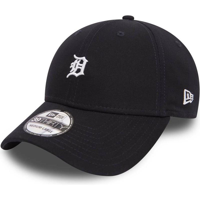 Gorra curva negra ajustada 39THIRTY Mini Logo de Detroit Tigers MLB ... ec05b403a75