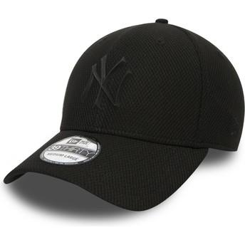 Gorra curva negra ajustada con logo negro para niño 39THIRTY Rubber Prime de New York Yankees MLB de New Era