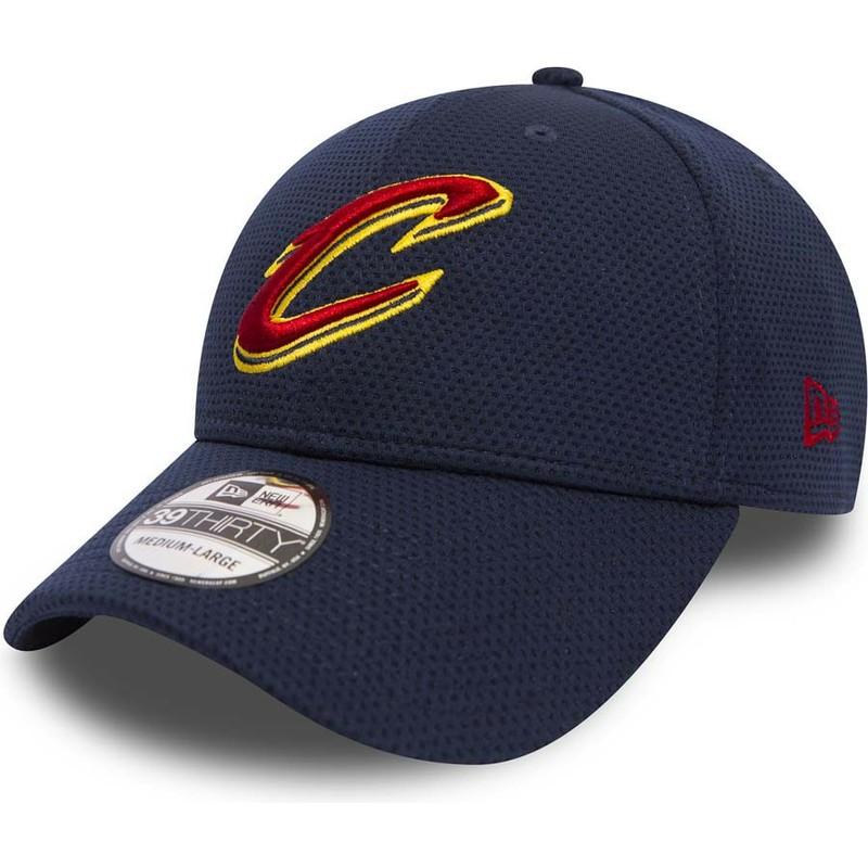 Gorra curva azul ajustada 39THIRTY Sport Mesh de Cleveland Cavaliers ... 7e18950477f