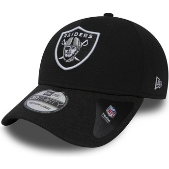 Gorra curva piedra ajustada 39THIRTY Shadow Tech de Oakland Raiders NFL de New Era