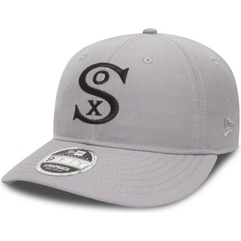 Gorra curva gris ajustable 9FIFTY Low Profile City Series de Chicago White Sox MLB de New Era