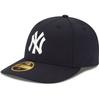 Gorra curva azul marino ajustada 59FIFTY Low Profile Authentic de New York Yankees MLB de New Era