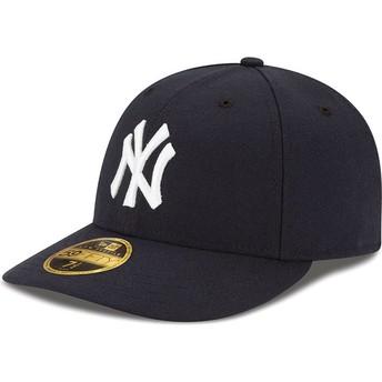 Gorra curva negra ajustada 59FIFTY Low Profile Authentic de New York Yankees MLB de New Era