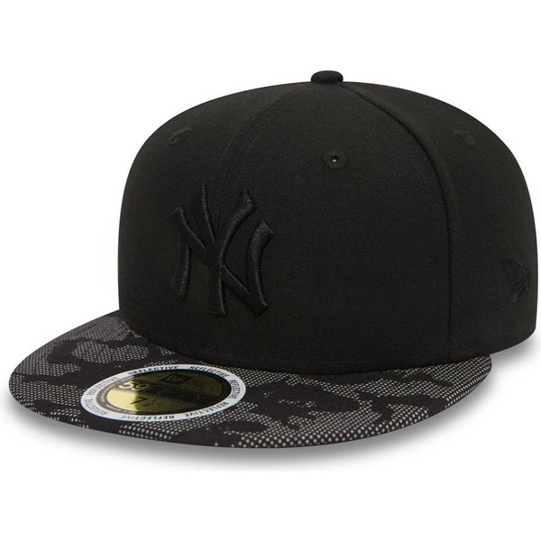 gorra-plana-negra-ajustada-con-logo-negro-59fifty-night-time-de-new-york-yankees-mlb-de-new-era